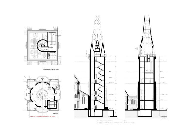 Architectural drawings show the new Cathedral will have the same footprint and spire, while being stronger, safer and more accessible.