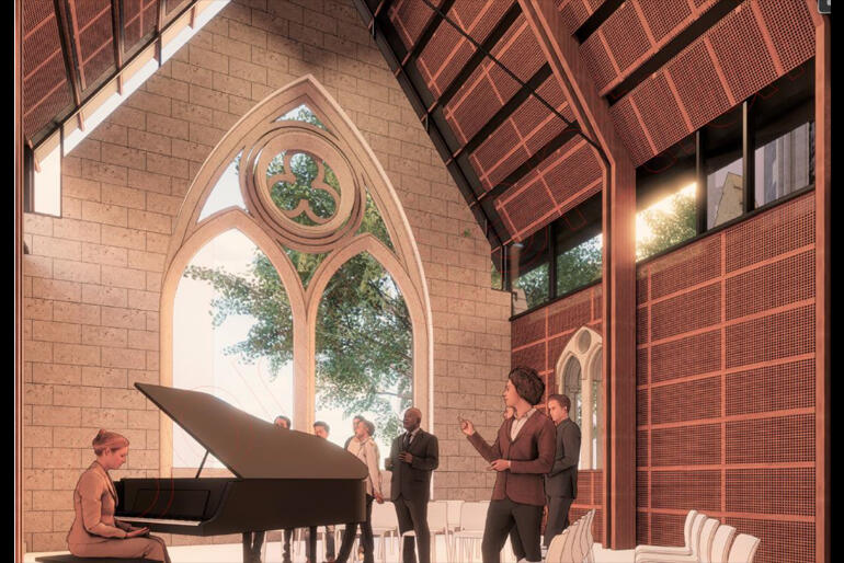 The Cathedral Concept Design includes a bespoke room built for choir rehearsals that can also be used for meetings.