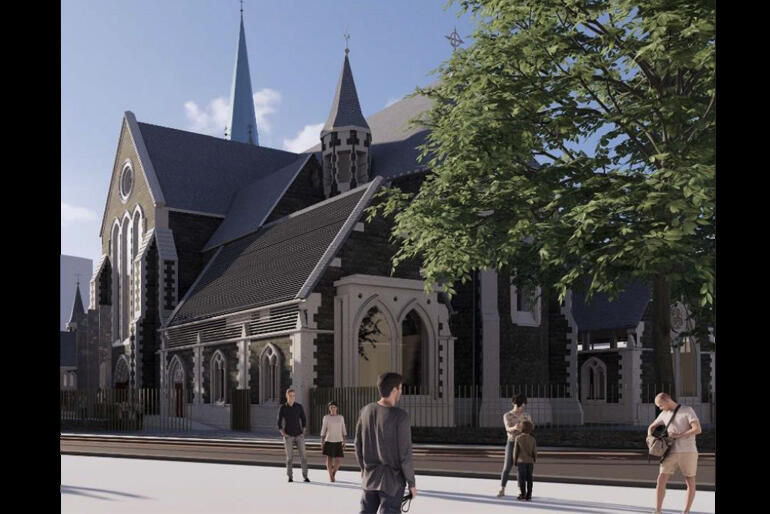 Two new vestries will replace the existing 1960s vestry buildings in a two-tone stone style that matches the 19th century Cathedral architecture.