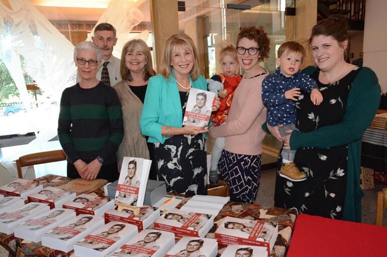 Anglican author Elizabeth Kay (centre) with Cuba Press staff and family members at last week's book launch.