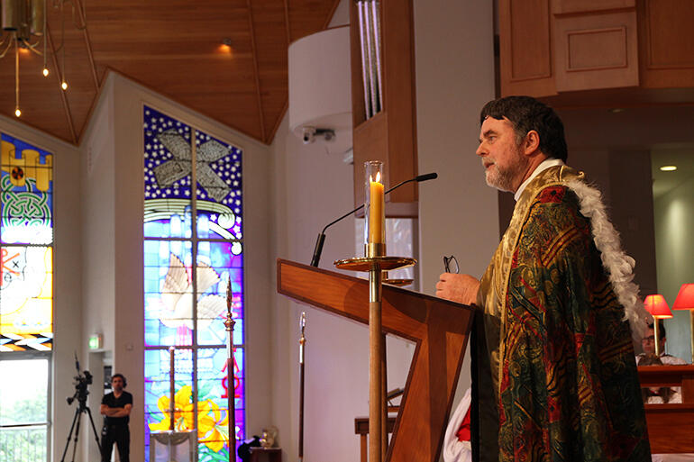 The Most Rev Philip Richardson,archbish op of New Zealand, preached the homily.