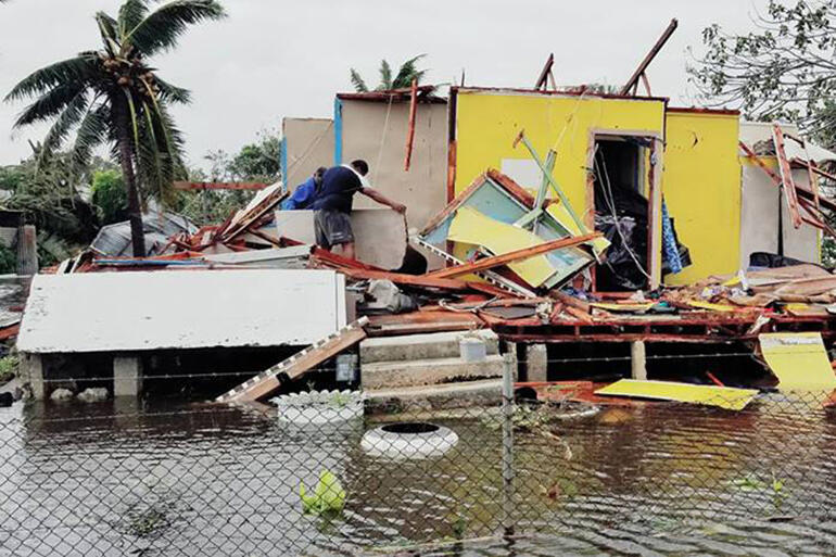 Gita has wrought widespread destruction in Nuku'alofa.