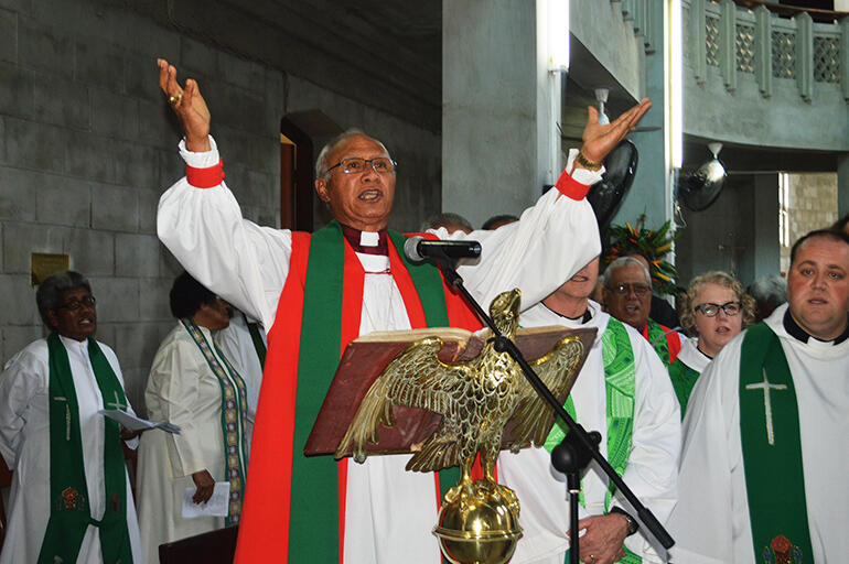Archbishop Winston Halapua, who is about to retire as Bishop of Polynesia, and Primate.