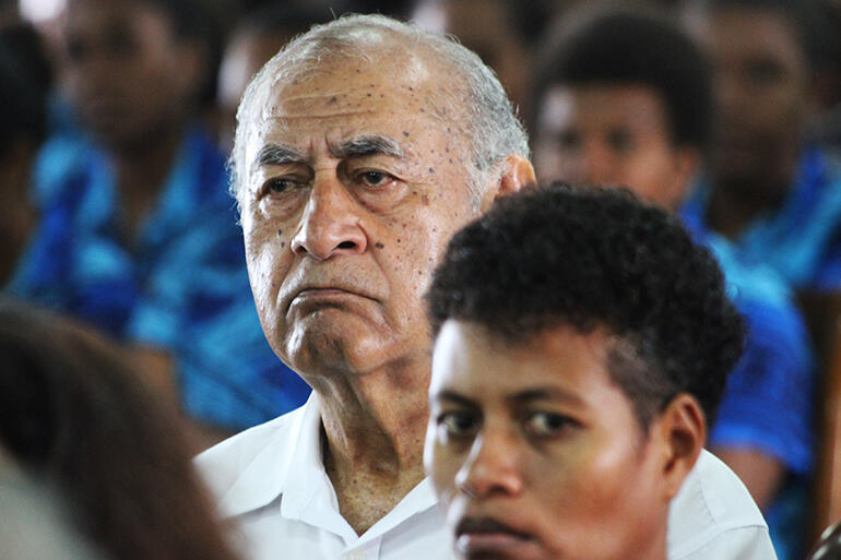 That's Brigadier-General (Ret'd) Epeli Nailatikau, who was President of Fiji from 2009 to 2015.