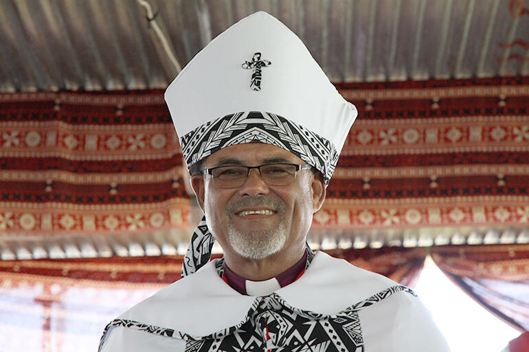 The newly ordained Bishop Henry Bull, who has become the new Bishop of Vanua Levu and Taveuni.