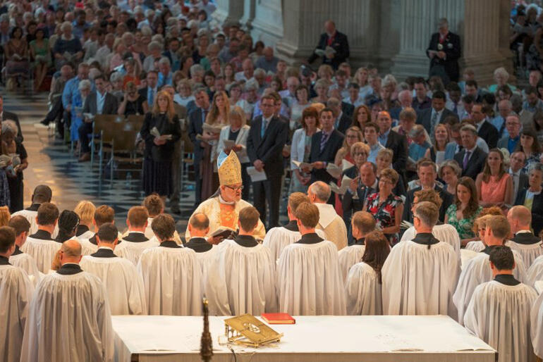 Starting out: 40 new deacons are ordained in St Paul's Cathedral, in July, 2015