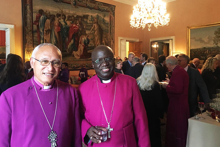 Archbishop Winston Halapua, with Archbishop Albert Chama, Primate of Central Africa.